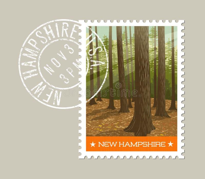 Σχέδιο γραμματοσήμων του Νιού Χάμσαιρ επίσης corel σύρετε το διάνυσμα απεικόνισης απεικόνιση αποθεμάτων