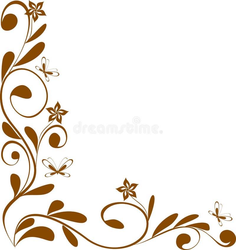 σχέδιο γωνιών floral διανυσματική απεικόνιση