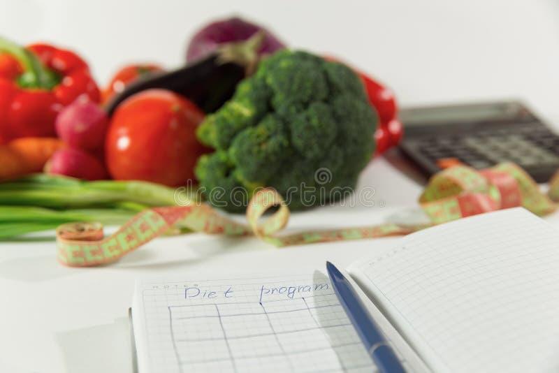 Σχέδιο διατροφής, υγιής φυσική οργανική τροφή στοκ εικόνες