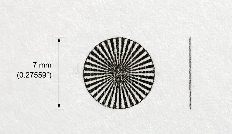 Σχέδιο δοκιμής ενός εκτυπωτή στοκ εικόνα με δικαίωμα ελεύθερης χρήσης