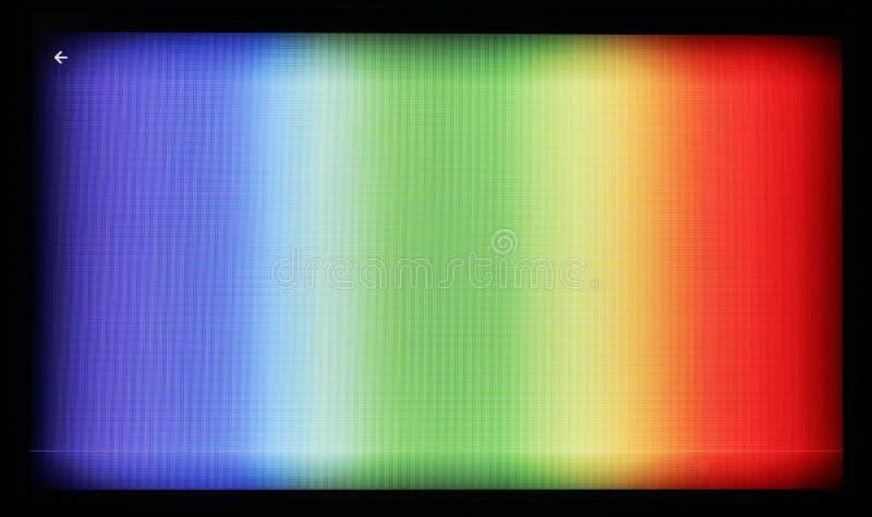 Σχέδιο δοκιμής των σχεδίων έγχρωμης τηλεόρασης που φωτογραφίζονται στο γ στοκ φωτογραφίες με δικαίωμα ελεύθερης χρήσης