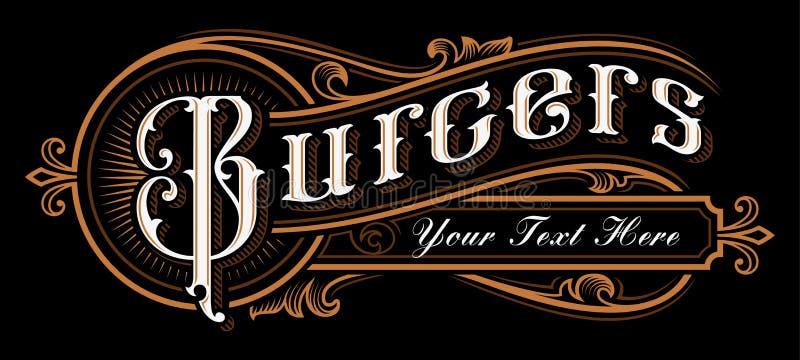 Σχέδιο εγγραφής Burgers ελεύθερη απεικόνιση δικαιώματος
