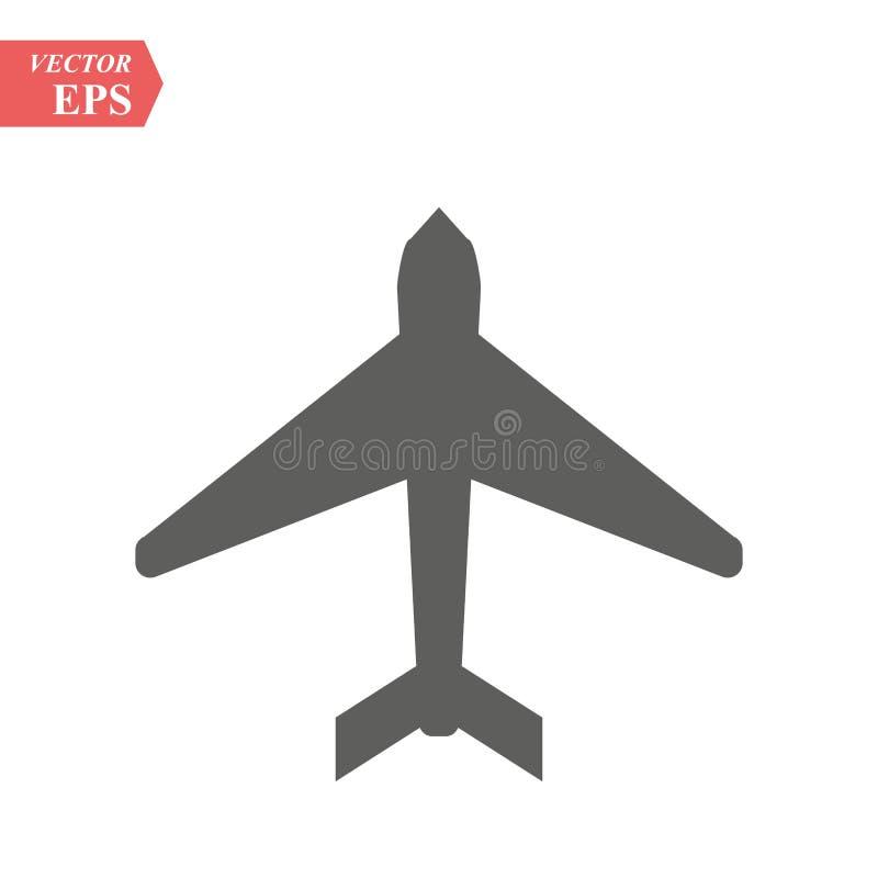 Σχέδιο εικονιδίων αερολιμένων, διανυσματική απεικόνιση eps10 γραφική ελεύθερη απεικόνιση δικαιώματος