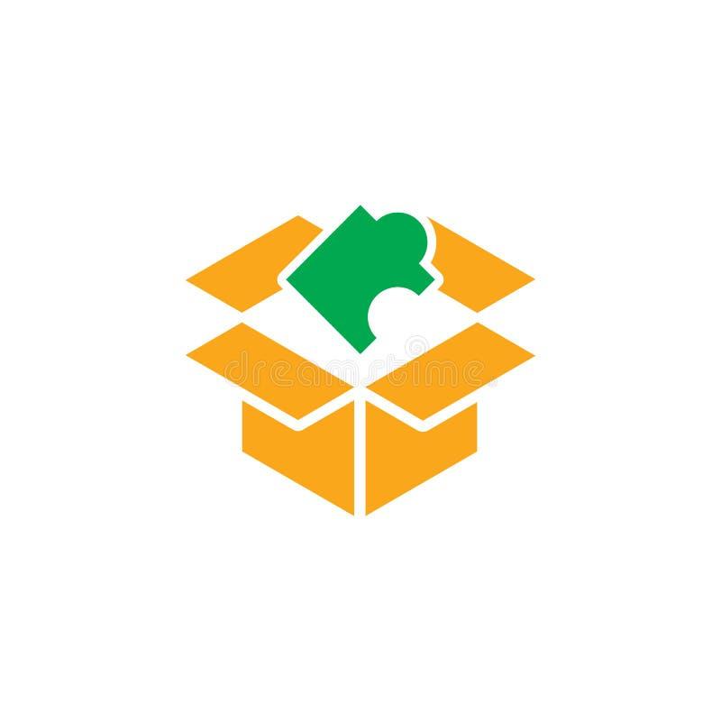 Σχέδιο εικονιδίων λογότυπων εκπαίδευσης γρίφων στοκ εικόνες