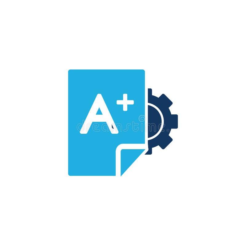 Σχέδιο εικονιδίων λογότυπων εκπαίδευσης εργαλείων στοκ εικόνες με δικαίωμα ελεύθερης χρήσης