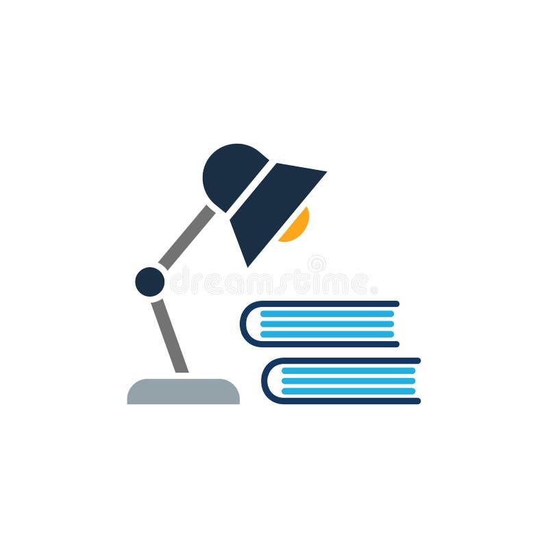 Σχέδιο εικονιδίων λογότυπων εκπαίδευσης λαμπτήρων στοκ εικόνα