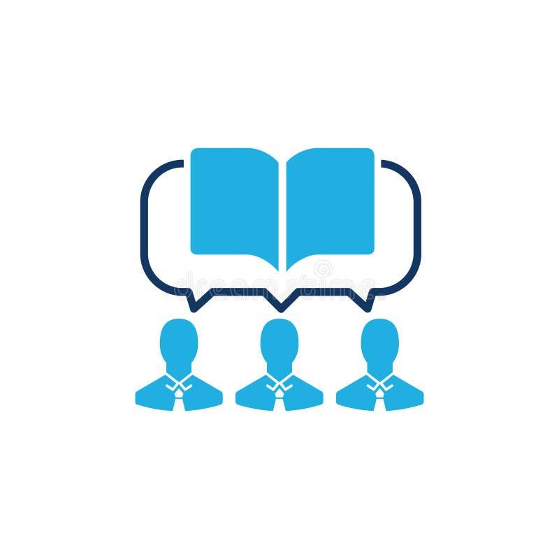 Σχέδιο εικονιδίων λογότυπων εκπαίδευσης συζήτησης στοκ φωτογραφία με δικαίωμα ελεύθερης χρήσης