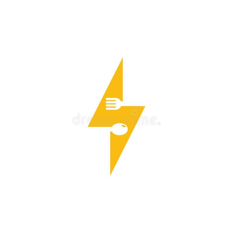 Σχέδιο εικονιδίων λογότυπων τροφίμων δύναμης ελεύθερη απεικόνιση δικαιώματος