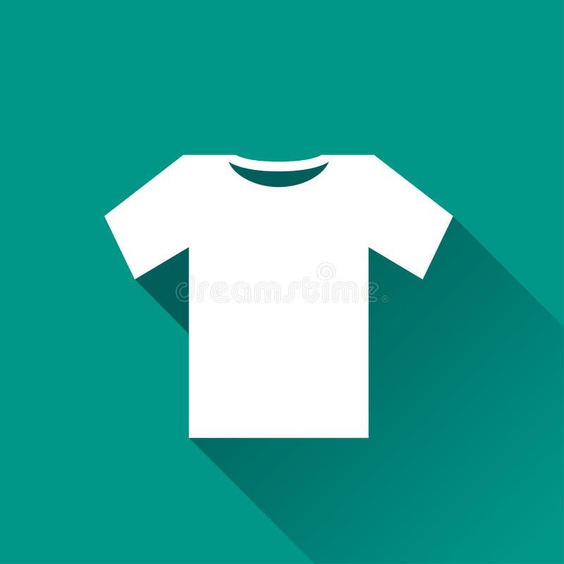 Σχέδιο εικονιδίων πουκάμισων γραμμάτων Τ ελεύθερη απεικόνιση δικαιώματος