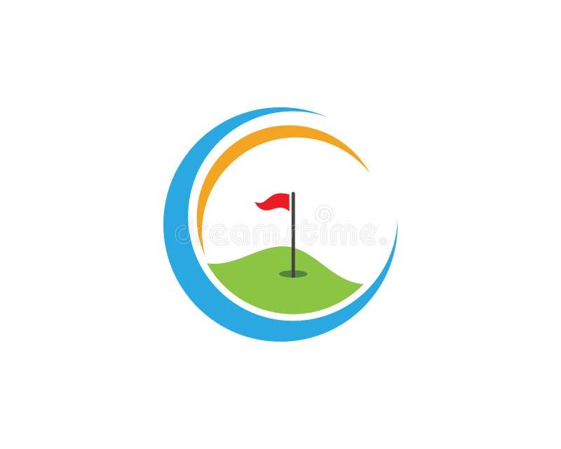 Σχέδιο εικονιδίων προτύπων λογότυπων γκολφ διανυσματική απεικόνιση