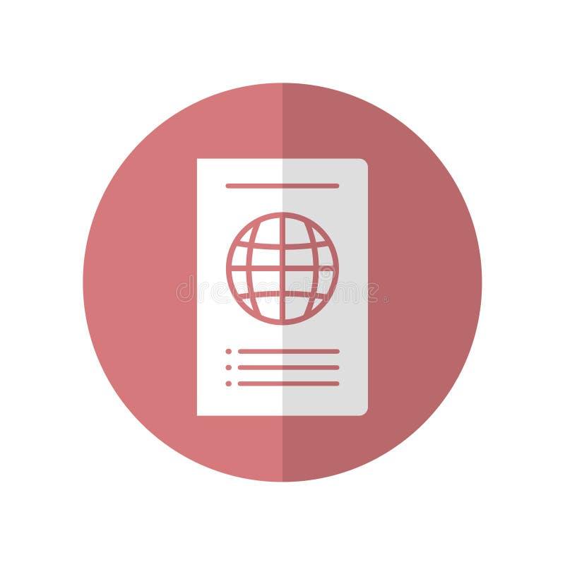 Σχέδιο εικονιδίων στην έννοια του ταξιδιού με το διεθνές διαβατήριο r διανυσματική απεικόνιση