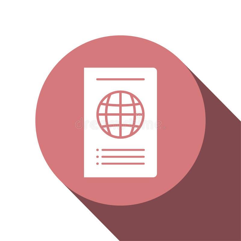 Σχέδιο εικονιδίων στην έννοια του ταξιδιού με το διεθνές διαβατήριο r ελεύθερη απεικόνιση δικαιώματος