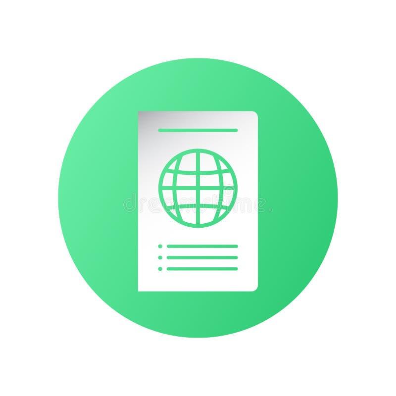Σχέδιο εικονιδίων στην έννοια του ταξιδιού με το διεθνές διαβατήριο r απεικόνιση αποθεμάτων