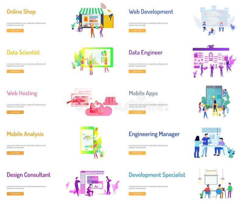 Σχέδιο εμβλημάτων επιχειρηματιών διανυσματική απεικόνιση