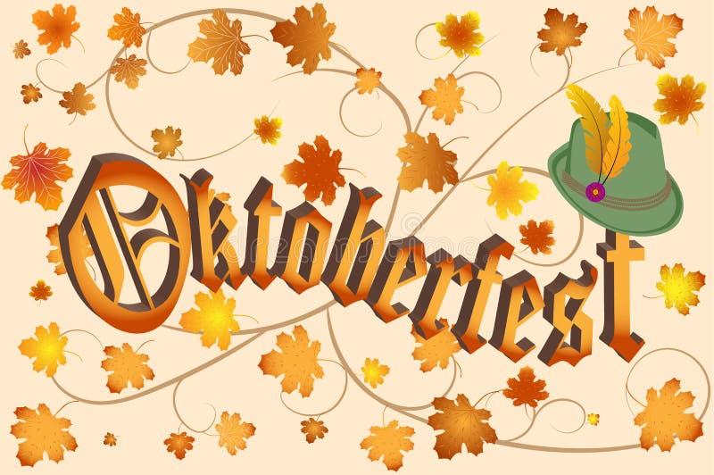 σχέδιο εορτασμού το πιό oktoberfes διανυσματική απεικόνιση