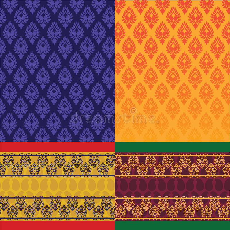 σχέδιο η ινδική Sari απεικόνιση αποθεμάτων