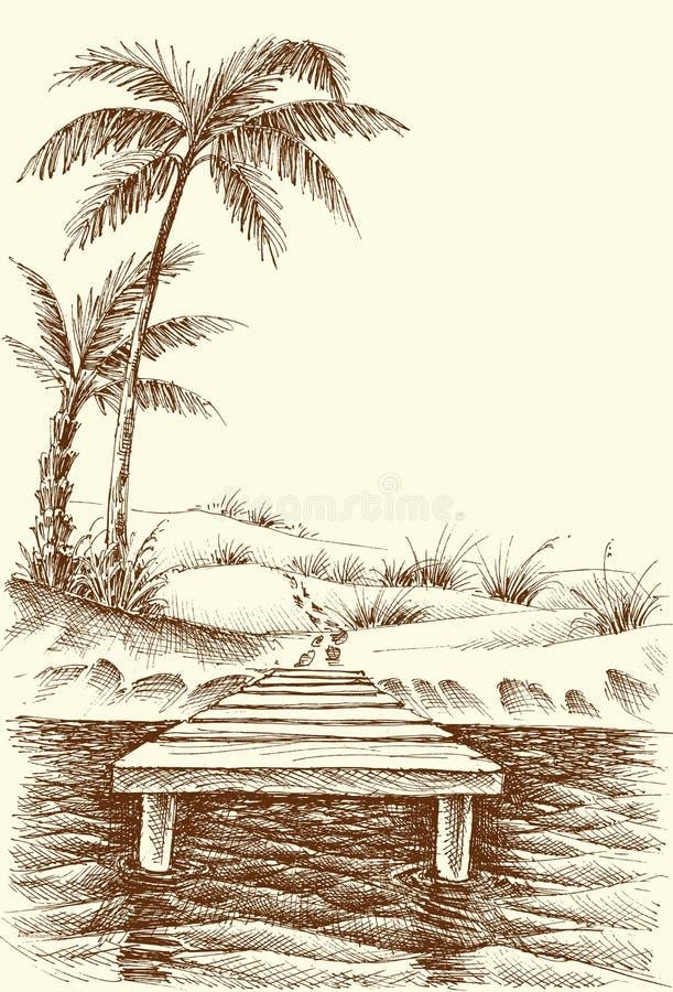 Σχέδιο θερινών παραλιών διανυσματική απεικόνιση
