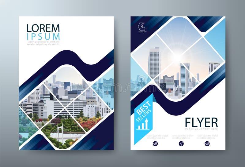 Σχέδιο ιπτάμενων φυλλάδιων ετήσια εκθέσεων, παρουσίαση φυλλάδιων, πρότυπα κάλυψης βιβλίων, σχεδιάγραμμα στο μέγεθος A4 r ελεύθερη απεικόνιση δικαιώματος