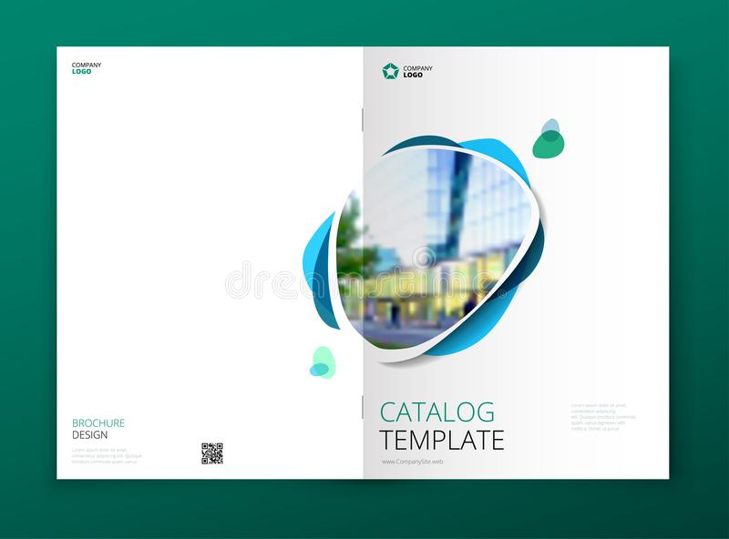Σχέδιο κάλυψης καταλόγων Εταιρικό επιχειρησιακό φυλλάδιο, ετήσια έκθεση, κατάλογος, έννοια σχεδιαγράμματος προτύπων περιοδικών ελεύθερη απεικόνιση δικαιώματος