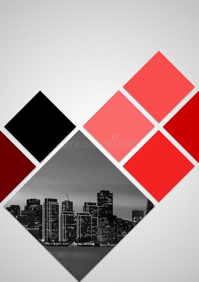 Σχέδιο κάλυψης φυλλάδιων θέματος κόκκινου χρώματος για το 2018 στοκ εικόνα
