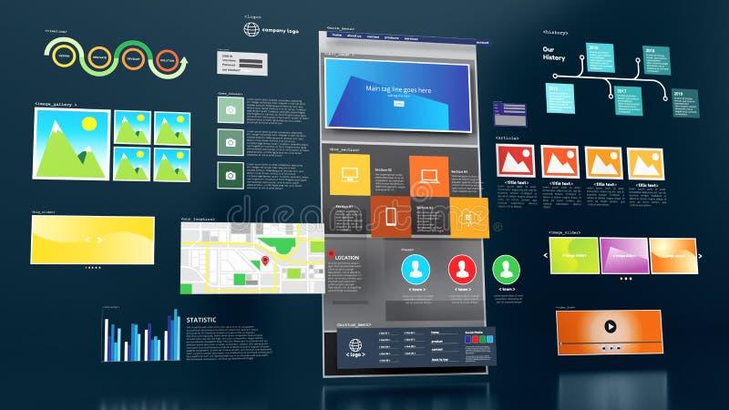 Σχέδιο και ανάπτυξη ιστοσελίδων στοκ φωτογραφίες με δικαίωμα ελεύθερης χρήσης
