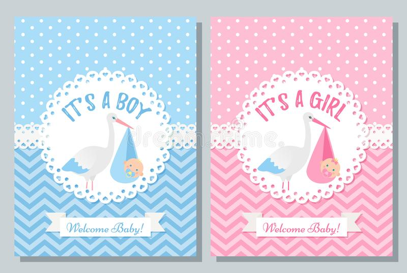 Σχέδιο καρτών ντους μωρών r Το πρότυπο γενεθλίων προσκαλεί ελεύθερη απεικόνιση δικαιώματος