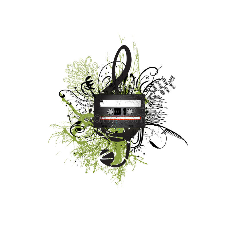 σχέδιο κασετών floral διανυσματική απεικόνιση