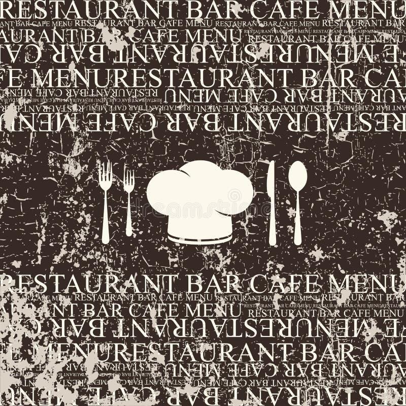 Σχέδιο καταλόγων επιλογής εστιατορίων. Ύφος Grunge ελεύθερη απεικόνιση δικαιώματος