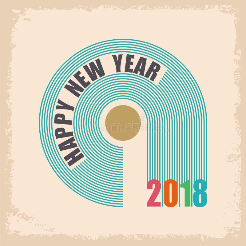 Σχέδιο κειμένων καλής χρονιάς 2018 απεικόνιση αποθεμάτων
