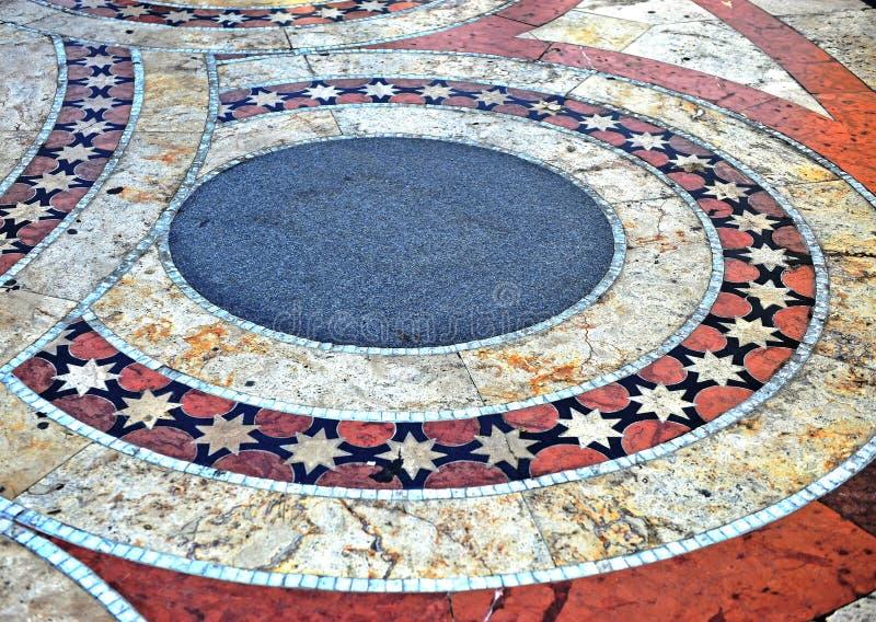 Σχέδιο κεραμιδιών πατωμάτων, τετράγωνο καθεδρικών ναών της Βουδαπέστης στοκ εικόνα με δικαίωμα ελεύθερης χρήσης