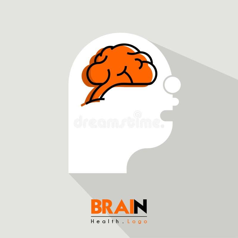 Σχέδιο κινούμενων σχεδίων λογότυπων εγκεφάλου στοκ φωτογραφίες με δικαίωμα ελεύθερης χρήσης