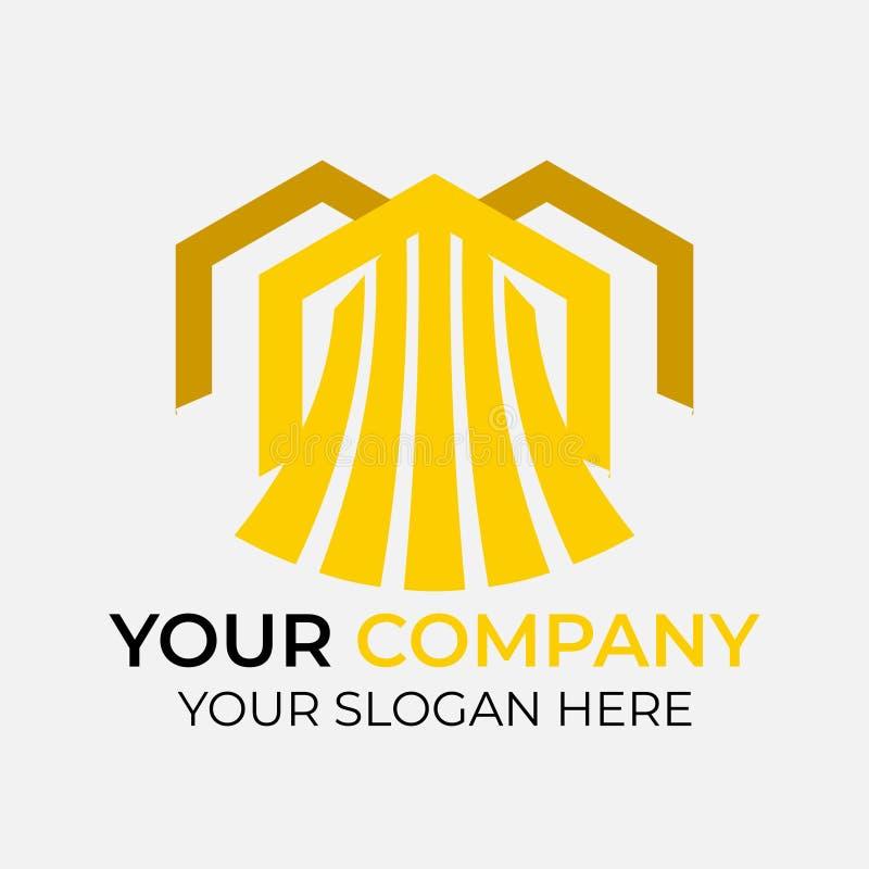 Σχέδιο λογότυπων ακίνητων περιουσιών ελεύθερη απεικόνιση δικαιώματος