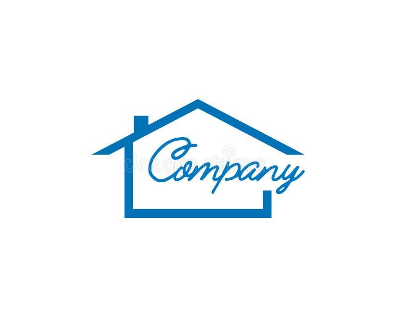 Σχέδιο λογότυπων ακίνητων περιουσιών, σχέδιο λογότυπων σπιτιών, δημιουργικά διανυσματικά εικονίδια ακίνητων περιουσιών απεικόνιση αποθεμάτων