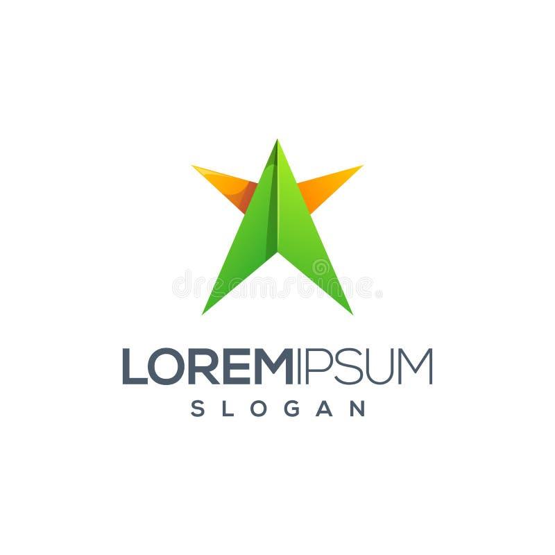 Σχέδιο λογότυπων αστεριών Origami έτοιμο να χρησιμοποιήσει ελεύθερη απεικόνιση δικαιώματος
