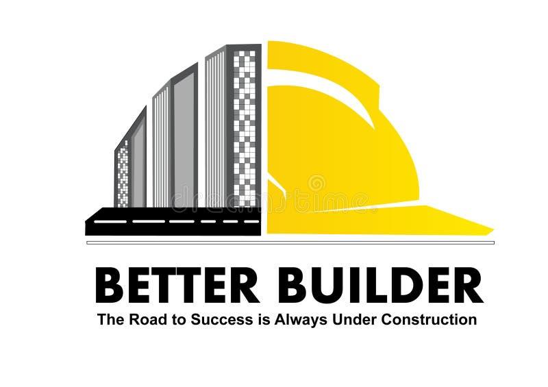 Σχέδιο λογότυπων για μια κατασκευαστική διανυσματική εικόνα απεικόνιση αποθεμάτων