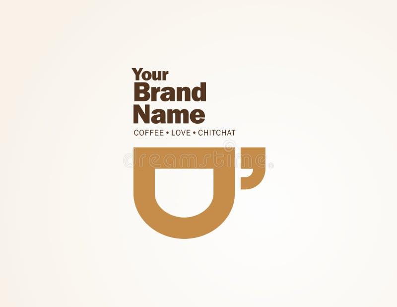 Σχέδιο λογότυπων για το εστιατόριο καφέ απεικόνιση αποθεμάτων