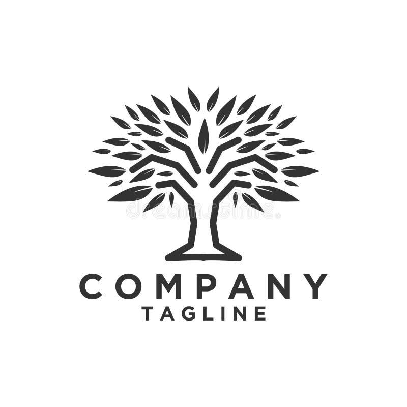 Σχέδιο λογότυπων δέντρων ή σύμβολο δέντρων, εικονίδιο για την επιχείρηση φύσης διανυσματική απεικόνιση