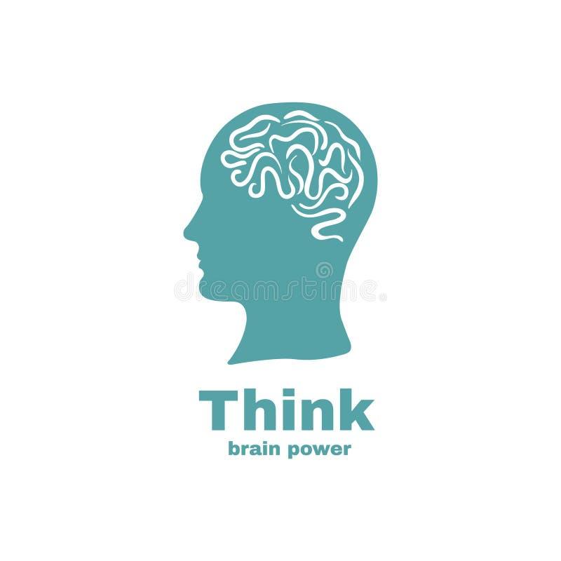 Σχέδιο λογότυπων εγκεφάλου διανυσματική απεικόνιση