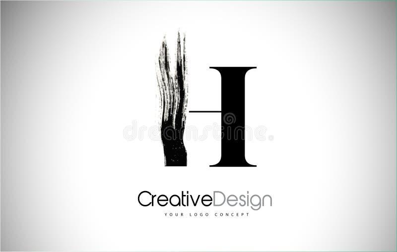 Σχέδιο λογότυπων επιστολών κτυπήματος βουρτσών Χ Μαύρο εικονίδιο Leters λογότυπων χρωμάτων διανυσματική απεικόνιση