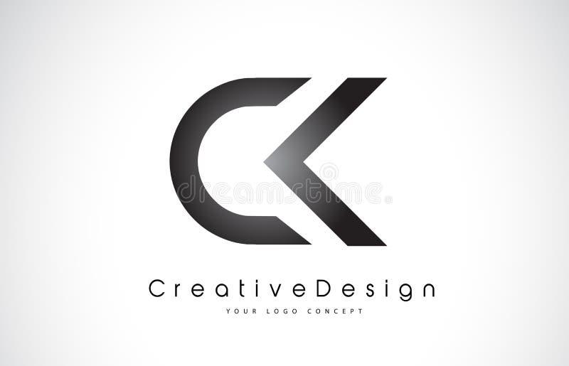 Σχέδιο λογότυπων επιστολών των CK Γ Κ Δημιουργικά σύγχρονα γράμματα διανυσματικό Λ εικονιδίων ελεύθερη απεικόνιση δικαιώματος