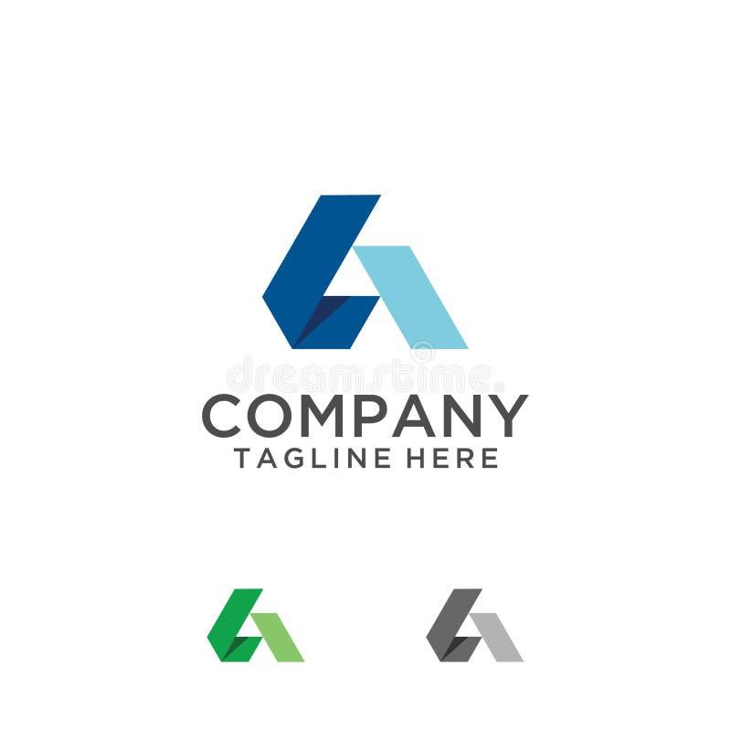Σχέδιο λογότυπων μέσων γραμμάτων Α διανυσματική απεικόνιση