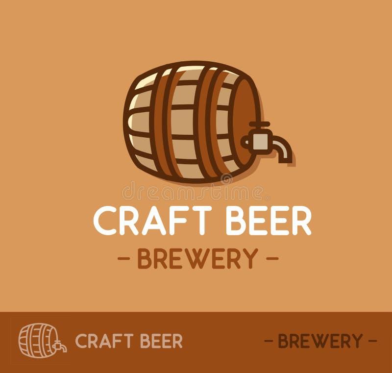 Σχέδιο λογότυπων μπύρας τεχνών στο πρότυπο σχεδιαγράμματος ιστοχώρου διανυσματική απεικόνιση