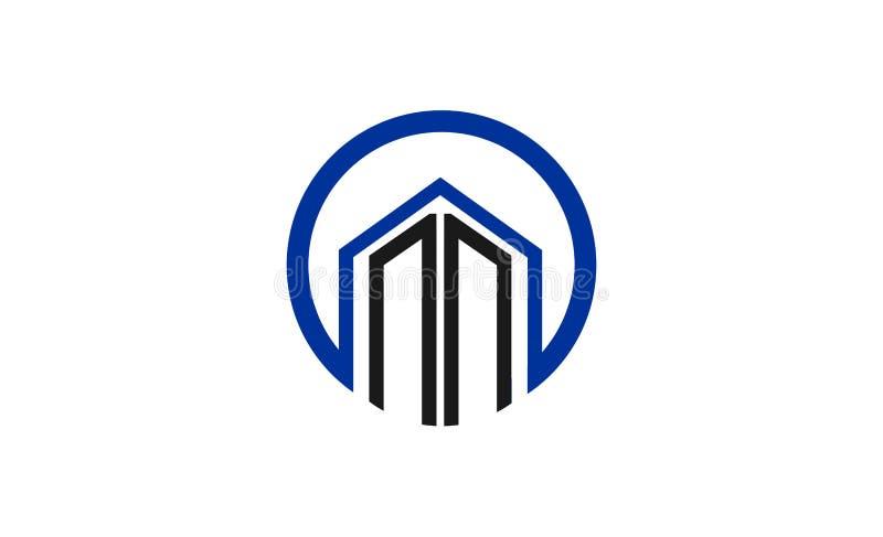 Σχέδιο λογότυπων οικοδόμησης διανυσματική απεικόνιση