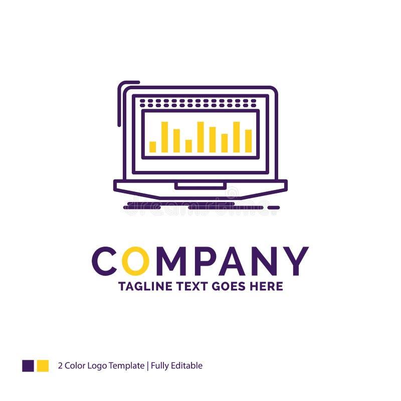 Σχέδιο λογότυπων ονόματος επιχείρησης για τα στοιχεία, οικονομικά, δείκτης, έλεγχος διανυσματική απεικόνιση