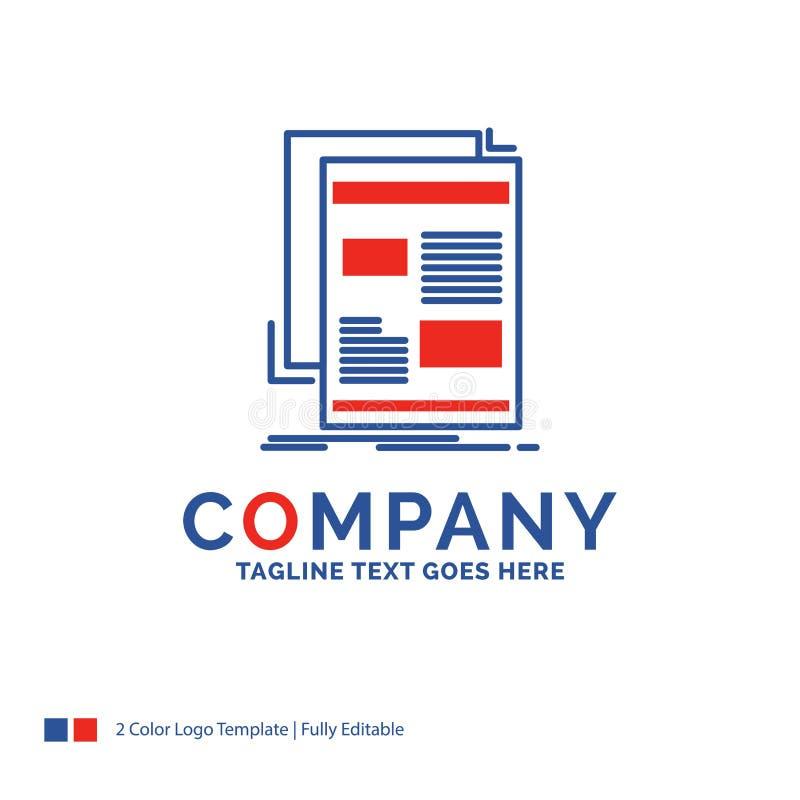 Σχέδιο λογότυπων ονόματος επιχείρησης για τις ειδήσεις, ενημερωτικό δελτίο, εφημερίδα, μέσα απεικόνιση αποθεμάτων
