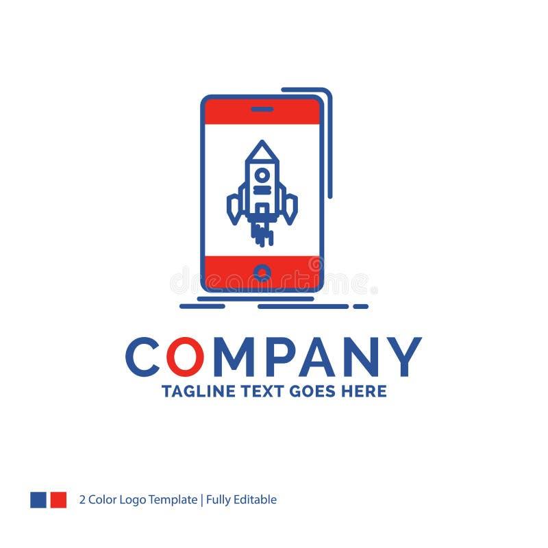 Σχέδιο λογότυπων ονόματος επιχείρησης για το παιχνίδι, τυχερό παιχνίδι, έναρξη, κινητή, τηλέφωνο διανυσματική απεικόνιση