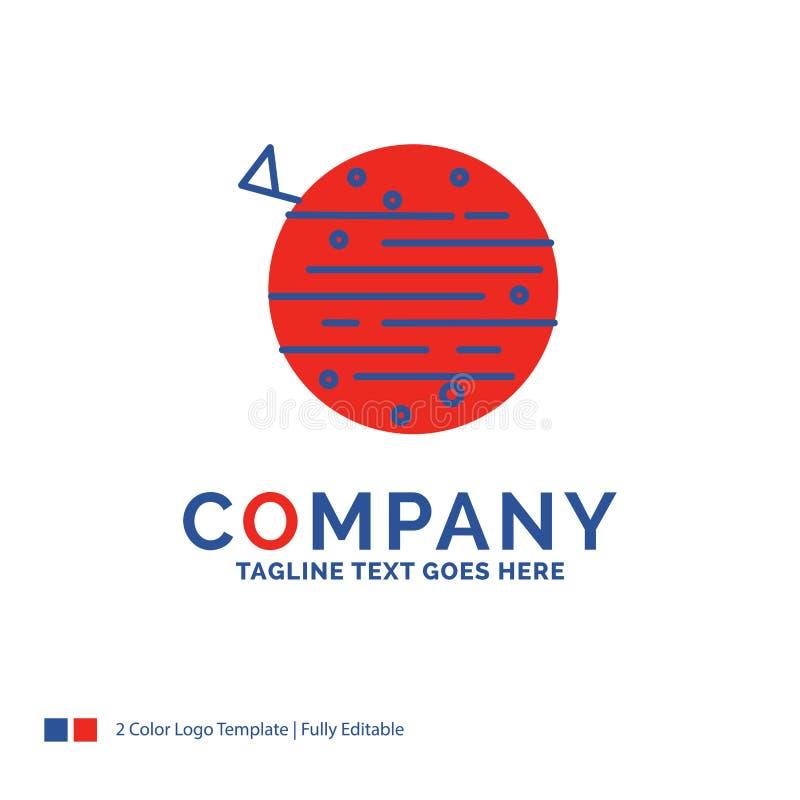 Σχέδιο λογότυπων ονόματος επιχείρησης για το φεγγάρι, πλανήτης, διάστημα, squarico, eart απεικόνιση αποθεμάτων