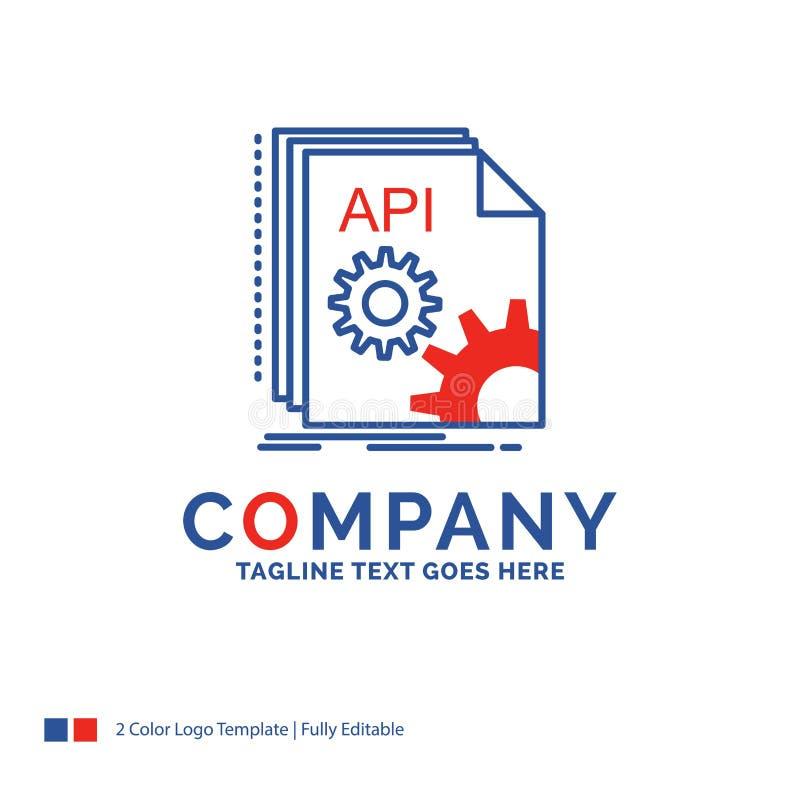 Σχέδιο λογότυπων ονόματος επιχείρησης για το API, app, κωδικοποίηση, υπεύθυνος για την ανάπτυξη, softwa απεικόνιση αποθεμάτων