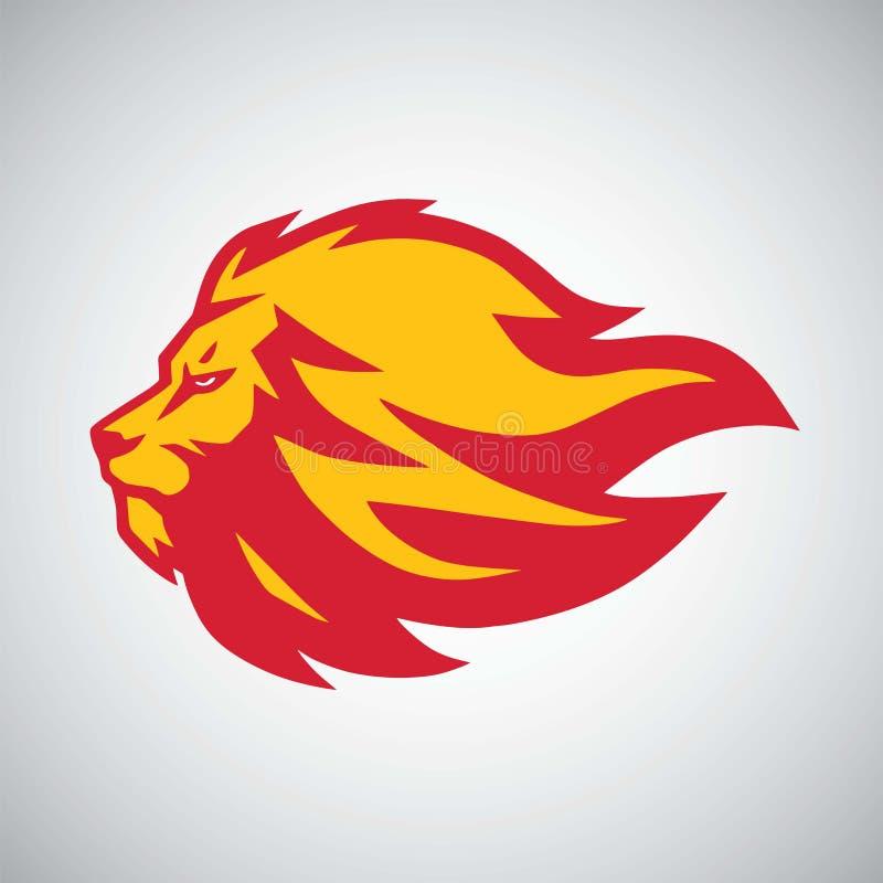 Σχέδιο λογότυπων πυρκαγιάς φλογών λιονταριών ελεύθερη απεικόνιση δικαιώματος