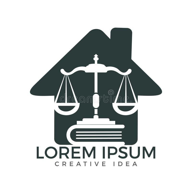 Σχέδιο λογότυπων σπιτιών νόμου απεικόνιση αποθεμάτων